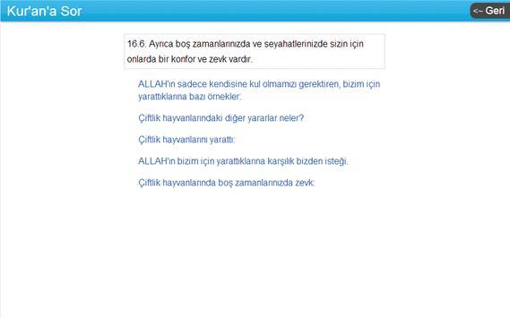 Kuran'a Sor apk screenshot