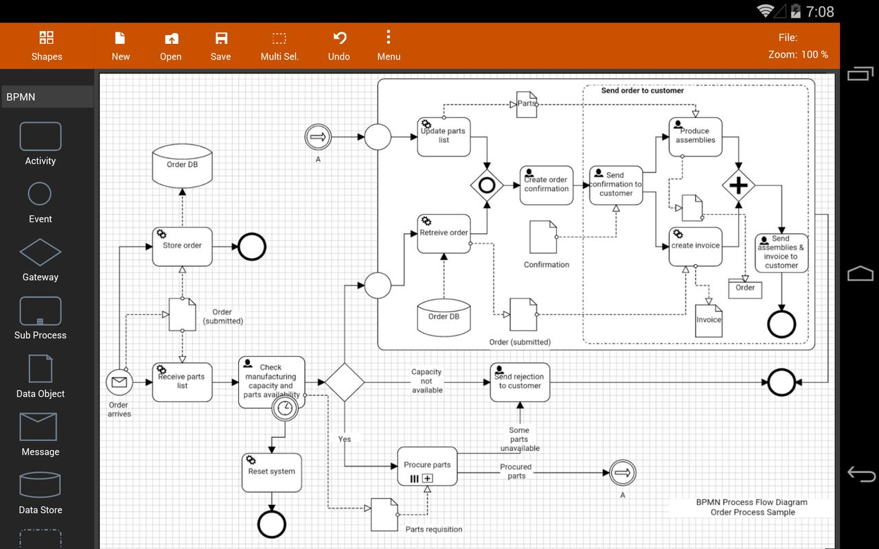 Flowdia Diagrams Lite For Android Apk Download Uml 2 Process Flow Diagram Screenshot 7