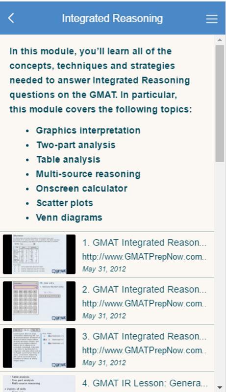 Gmat prep now video course apk download free education app for gmat prep now video course apk screenshot ccuart Images