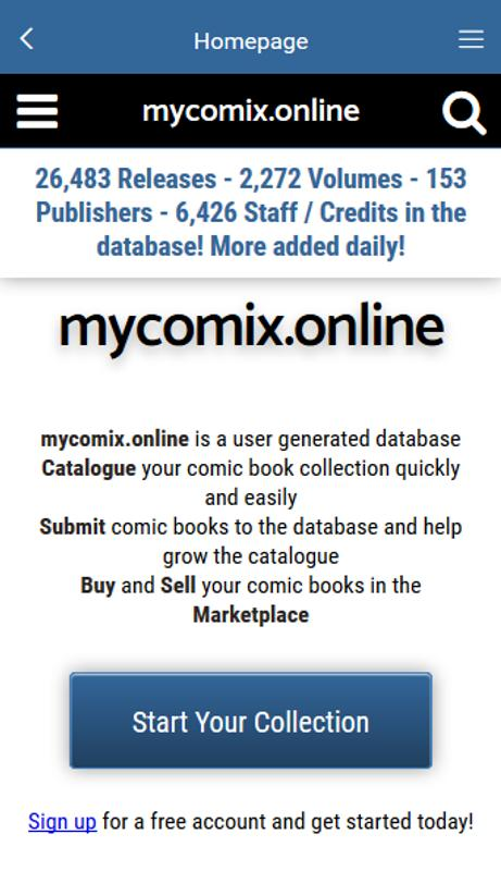 Mycomixonline Comic Database For Android Apk Download