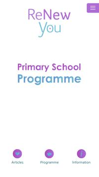 ReNew You Primary Programme poster