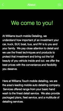 Williams Touch Mobile Detailin screenshot 1