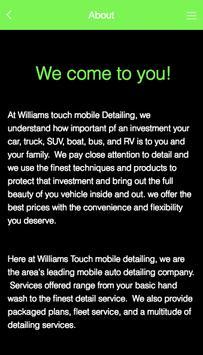 Williams Touch Mobile Detailin screenshot 7