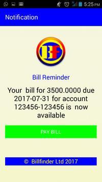 Billfinder screenshot 1