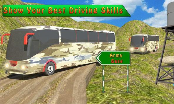 US Army Soldiers Bus Transport poster