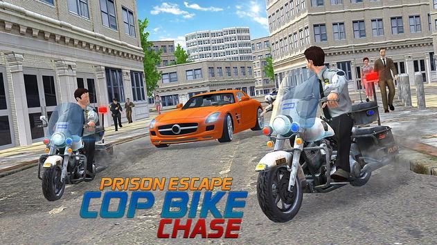 Prison Escape Cop Bike Chase poster