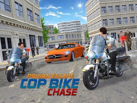 Prison Escape Cop Bike Chase apk screenshot