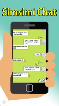 Chat Simsimi online talking Tips poster
