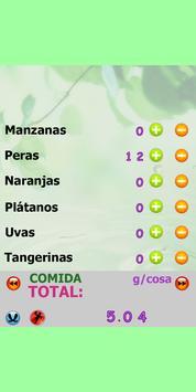 Calorías calculadora  contador apk screenshot