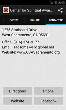 Center for Spiritual Awareness screenshot 3