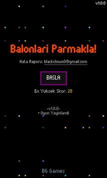 Balonları Parmakla poster