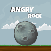 Angry rock icon