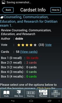 RD RDN  Flashcards poster