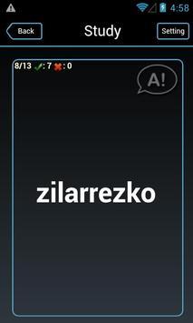 English - Basque flashcards apk screenshot