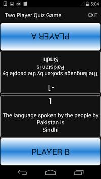 Two Player Quiz apk screenshot