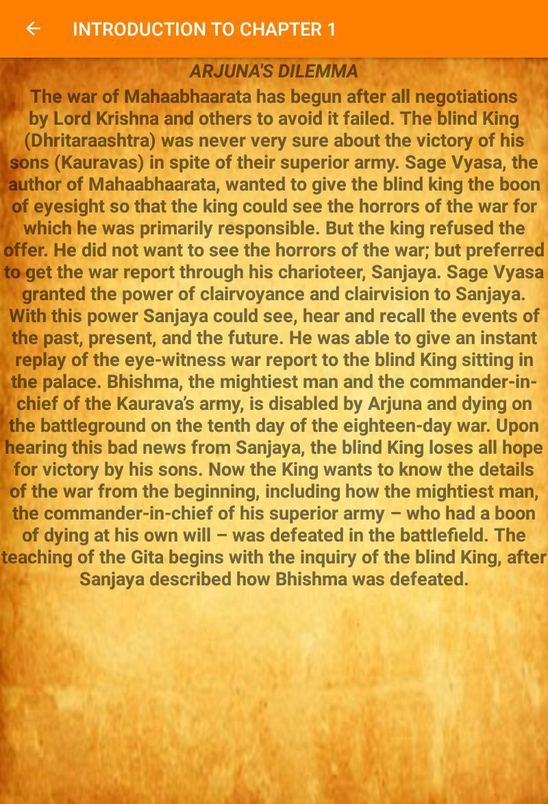 BHAGAVAD GITA CHAPTER 1 for Android - APK Download