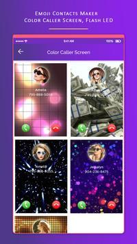 Emoji Contacts Maker Color Caller Screen Flash LED screenshot 4