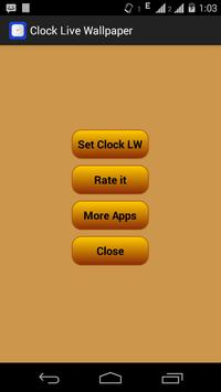 Clock Live Wallpaper apk screenshot