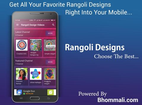 Rangoli Designs Videos For All poster