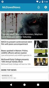 McDowell News poster