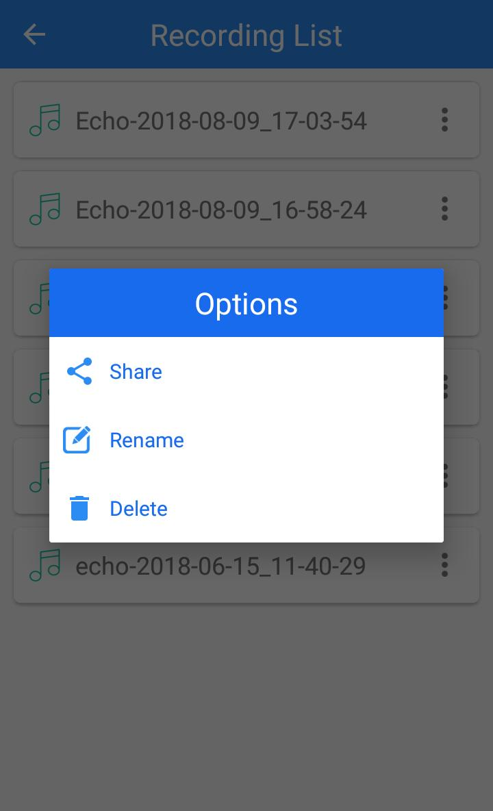 Echo voice recorder for Android - APK Download
