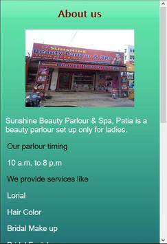 Sunshine Beauty Parlour - Patia Bhubaneswar screenshot 1