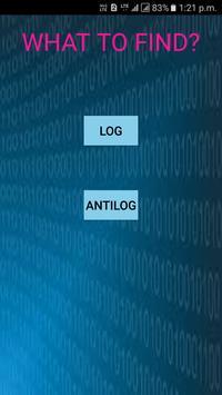 Log and Antilog Calculator poster