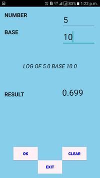 Log and Antilog Calculator screenshot 1