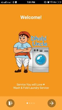 Dhobi Uncle - A laundry App poster
