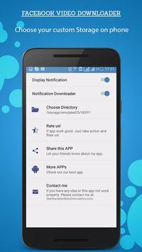 Facebook Video Downloader apk screenshot