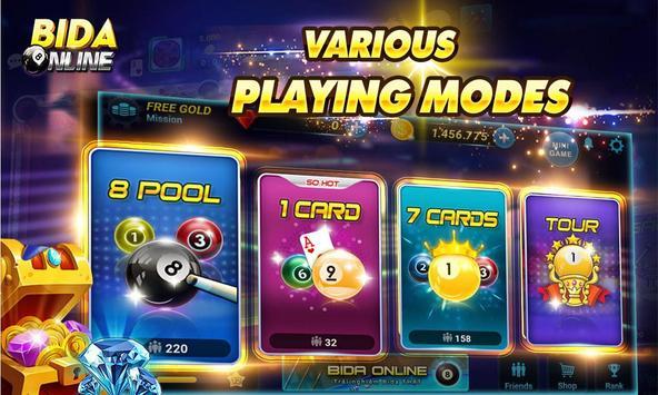 Bida Online: 8 Pool Pro, 7 Card, 1 Card poster