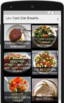 Low Carb Diet Breakfast screenshot 1