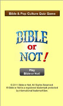 Bible or Not® Bible Quiz Game poster