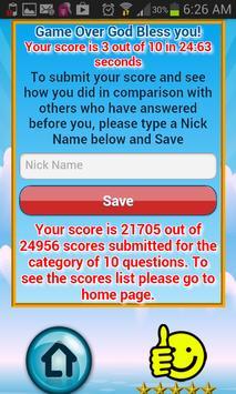 Bible Trivia Quiz Free Bible G apk screenshot
