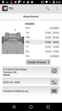 Tacoma Public Library apk screenshot