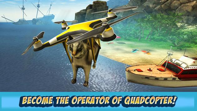Island Drone Flight Simulator poster