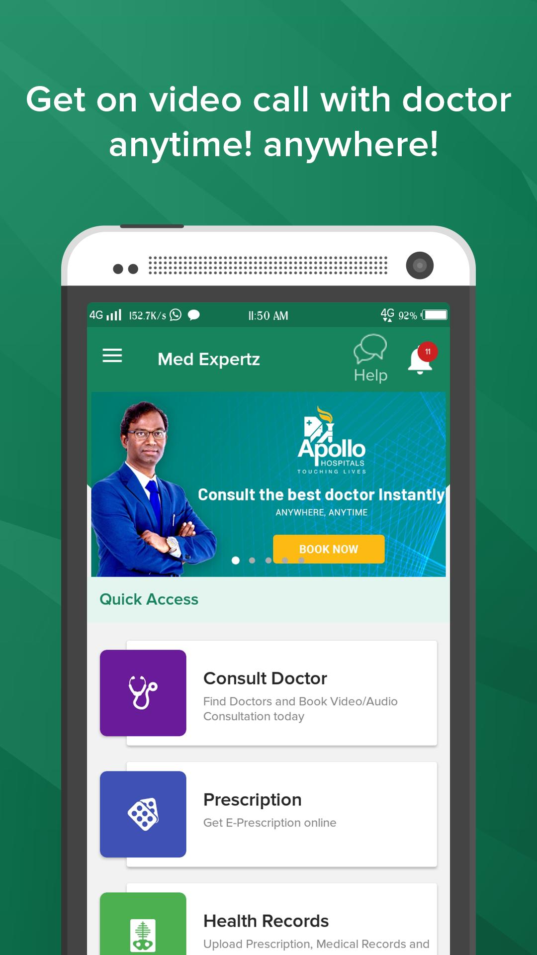 Medexpertz - Consult Doctor Online 24x7 on Video for Android