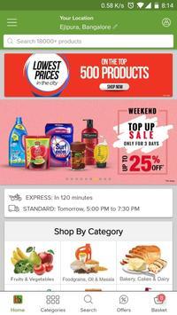 bigbasket - online grocery poster