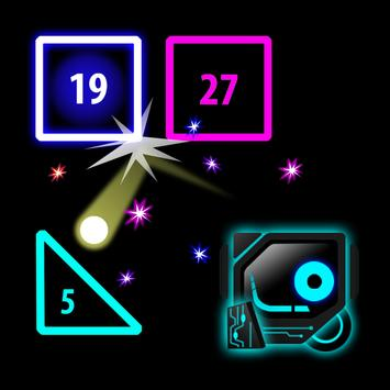 Brick Breaker Neon: Classic Space Invader poster