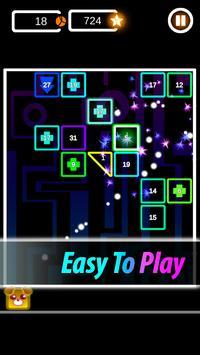 Brick Breaker Neon: Classic Space Invader screenshot 1
