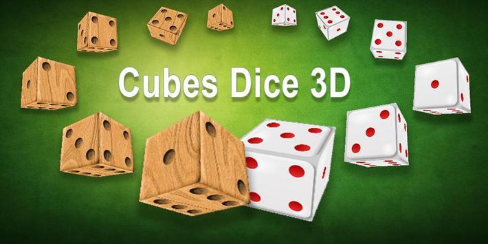 Cubes Dice 3D poster