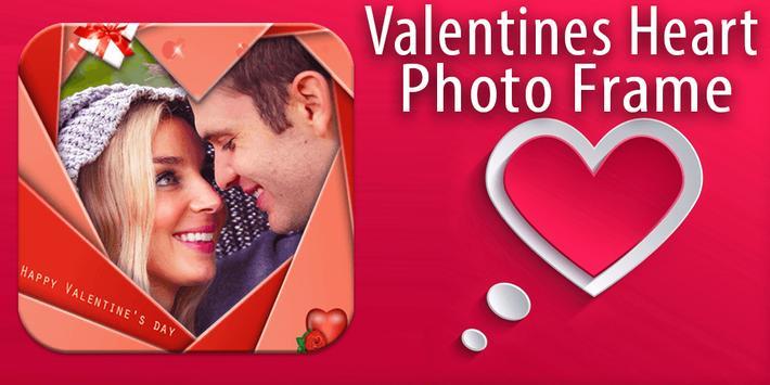 Photo Frame Valentines Heart poster