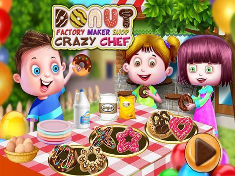 Donut Factory Maker Shop Crazy Chef poster