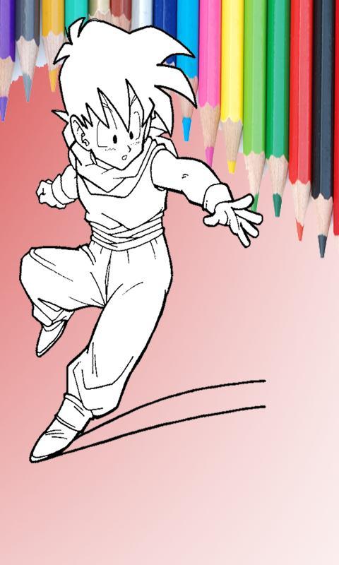 Saiyan Coloring Book 2017 Apk Screenshot