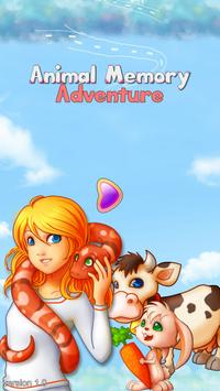 Animal Memory Match Adventure poster