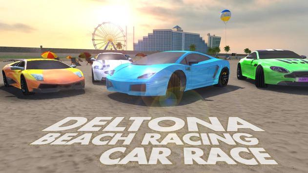 Deltona Beach Racing: corridas de carros 3D Cartaz