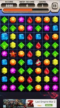 Jewels Star Saga Hard screenshot 2