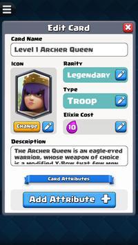Card Creator for CR ảnh chụp màn hình 1
