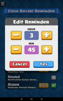 Reminder for Clash Royale screenshot 13