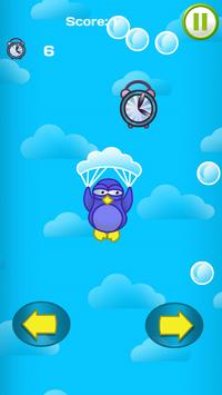 Penguin Parachute Sky Downfall poster